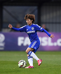 Ji So-Yun of Chelsea Ladies in action during the FA Women's Super League match between Bristol Academy Women and Chelsea Ladies at Stoke Gifford Stadium on 2 April 2015 in Bristol, England - Photo mandatory by-line: Paul Knight/JMP - Mobile: 07966 386802 - 02/04/2015 - SPORT - Football - Bristol - Stoke Gifford Stadium - Bristol Academy Women v Chelsea Ladies - FA Women's Super League