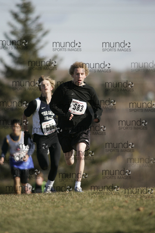 Brockville, Ontario ---18/11/07--- OTFA Cross country championships 2007.GEOFF ROBINS ..