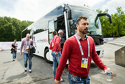 Sabahudin Kovacevic of Slovenia prior to the 2017 IIHF Men's World Championship group B Ice hockey match between National Teams of Czech Republic and Slovenia, on May 12, 2017 in AccorHotels Arena in Paris, France. Photo by Vid Ponikvar / Sportida