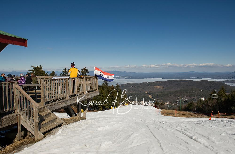 Spring skiing on a bluebird day at Gunstock.   Karen Bobotas for the Laconia Daily Sun