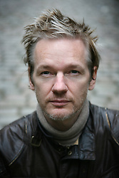 ondon News Pictures 29/11/10.Julian Assange, Australian computer programmer, hacker, and internet activist best know for his involment with Wikileaks as an editor in Chief, poses for photographs in Paddington, West London, UK on Monday the 4 of October  2010 Picture credit should read: Carmen Valino/London News Pictures