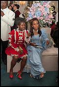 FARIDAH FOLAWIYO; TIMEYIN OLUMIDE; , Florence Heoluwa 'Cuppy' Otedola Marie Antoinette Graduation party. Mandarin Oriental, Knightsbridge25th of July 2014.