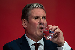© Licensed to London News Pictures . 23/09/2019. Brighton, UK. KEIR STARMER listens during motions on Labour's position on Brexit , during the third day of the 2019 Labour Party Conference at the Brighton Centre . Photo credit: Joel Goodman/LNP