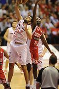 DESCRIZIONE : Milano  Lega A 2011-12 EA7 Emporio Armani Milano Scavolini Siviglia Pesaro play off semifinale gara 2<br /> GIOCATORE : Ioannis Bourousis<br /> CATEGORIA : rimbalzo<br /> SQUADRA : EA7 Emporio Armani Milano<br /> EVENTO : Campionato Lega A 2011-2012 Play off semifinale gara 2 <br /> GARA : EA7 Emporio Armani Milano Scavolini Siviglia Pesaro<br /> DATA : 31/05/2012<br /> SPORT : Pallacanestro <br /> AUTORE : Agenzia Ciamillo-Castoria/ GiulioCiamillo<br /> Galleria : Lega Basket A 2011-2012  <br /> Fotonotizia : Milano  Lega A 2011-12 EA7 Emporio Armani Milano Scavolini Siviglia Pesaro play off semifinale gara 2<br /> Predefinita :