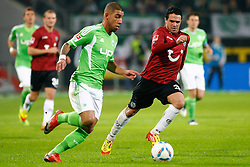 19.11.2011,Volkswagen Arena, Wolfsburg, GER, 1.FBL, VFL Wolfsburg vs Hannover 96, im Bild Ashkan Dejagah (Wolfsburg #24) und Manuel Schmiedebach (Hannover #33) // during the match from GER, 1.FBL,VFL Wolfsburg vs Hannover 96 on 2011/11/19, Volkswagen Arena, Wolfsburg, Germany..EXPA Pictures © 2011, PhotoCredit: EXPA/ nph/ Schrader..***** ATTENTION - OUT OF GER, CRO *****