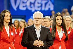 Ivo Josipovic, president of Croatia during flower ceremony after final of singles at 25th Vegeta Croatia Open Umag, on July 27, 2014, in Stella Maris, Umag, Croatia. Photo by Urban Urbanc / Sportida
