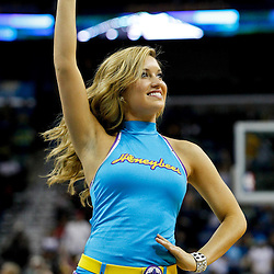January 29, 2012; New Orleans, LA, USA; A New Orleans Hornets honeybees dancer during a game against the Atlanta Hawks at the New Orleans Arena. The Hawks defeated the Hornets 94-72.  Mandatory Credit: Derick E. Hingle-US PRESSWIRE