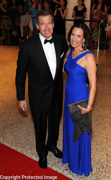 Brian Williams arrives for the White House Correspondents Dinner in Washington, DC