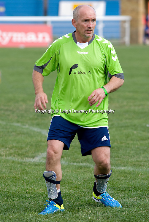 Former boxer Barry Mcguigan at The Indee Rose Trust, Charity football tournament featuring boxing and tv personalities. The Concord Rangers FC, Canvey Island, Essex, 14th August 2011. Photo credit: Leigh Dawney 2011