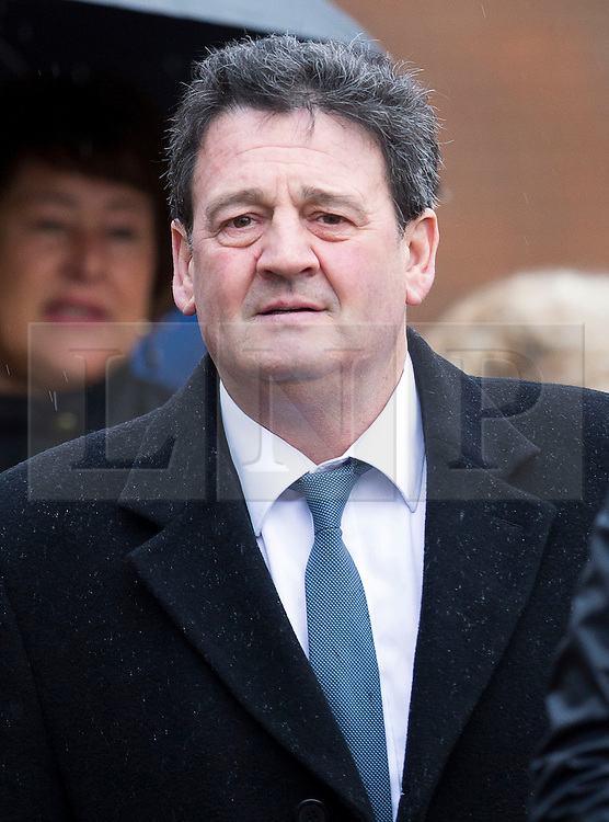 © Licensed to London News Pictures. 02/02/2016. Chichester, UK. PAUL PRICE, stepfather of Katie Price, arrives at Chichester Crown Court. Mr Price faces a charge of rape. Photo credit: Peter Macdiarmid/LNP