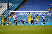 0-1, Goal scored by Charlie Austin of West Bromwich Albionduring the EFL Sky Bet Championship match between Sheffield Wednesday and West Bromwich Albion at Hillsborough, Sheffield, England on 1 July 2020.