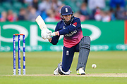 England womens cricket player Natalie Sciver  plays the ball square onto the on side during the ICC Women's World Cup match between England and Pakistan at the Fischer County Ground, Grace Road, Leicester, United Kingdom on 27 June 2017. Photo by Simon Davies.