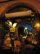 France . Paris . 4th district. place des vosges,  cafe hugo  paris France