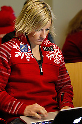 Vibeke Skofterud at press conference of Norwegian team one day before FIS Cross Country World Cup Rogla 2011, on December 16, 2011 at Hotel Planja, Rogla, Slovenia. (Photo By Vid Ponikvar / Sportida.com)