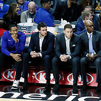 26 December 2017: LA Clippers forward Danilo Gallinari (8) is seen on the bench next to LA Clippers forward Blake Griffin (32) during the LA Clippers 122-95 victory over the Sacramento Kings, at the Staples Center, Los Angeles, California, USA.
