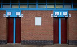 BIRMINGHAM, ENGLAND - Tuesday, March 1, 2016: Turnstiles at Aston Villa's Villa Park Stadium. (Pic by David Rawcliffe/Propaganda)