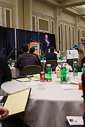 Commander Scott Waddle addresses attendees during the Ohio University College of Business Schey Sales Centre Symposium on April 14, 2015.  Photo by Ohio University  /  Rob Hardin