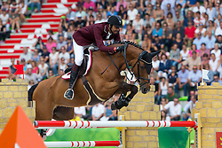 Shaikh Ali bin Khali Al Thani, (QAT), Vienna Olympic - World Champions, - Second Round Team Competition - Alltech FEI World Equestrian Games™ 2014 - Normandy, France.<br /> © Hippo Foto Team - Leanjo De Koster<br /> 25/06/14