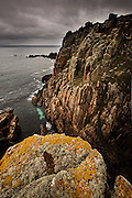 I spent most of my 20s rock climbing in Cornwall, from quiet and esoteric crags like St Loy, Rinsey and Carn Les Boel, to popular crags like Sennen, Bosigran and here in this picture, Chairladder. I always found Chairladder an intimidating place to climb, not particularly because of exposure or even height, but instead the confusion of three pitch routes and the wave cut step on which belayers have to stand, hoping their leaders complete the route before they drown in an Atlantic swimming pool! The funny thing is most visitors never ever get to se these cliffs, and their beautiful sculptural magic will always be the view of the sailor and the gymnastic dreamland of the climber, thank goodness!