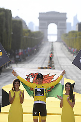 July 29, 2018 - Paris Champs-Elysees, France - PARIS CHAMPS-ELYSEES, FRANCE - JULY 29 : LATOUR Pierre Roger (FRA) of AG2R La Mondiale pictured on the podium during stage 21 of the 105th edition of the 2018 Tour de France cycling race, a stage of 116 kms between Houilles and Paris Champs-Elysees on July 29, 2018 in Paris Champs-Elysees, France, 29/07/18 (Credit Image: © Panoramic via ZUMA Press)