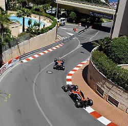 28.05.2011, Circuit de Monaco, Monte Carlo, MCO, Großer Preis von Monaco, Monte Carlo, RACE 06, im Bild  DHL Branding - Timo Glock (GER), Marussia Virgin Racing - Jerome De Ambrosio (BEL) Marussia Virgin Racing Team    EXPA Pictures © 2011, PhotoCredit: EXPA/ nph/  Dieter Mathis        ****** only for AUT, POL & SLO ******