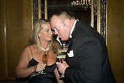 YVETTE AND PAUL NIXON, The 2007 Cartier Racing Awards. Four Seasonss Hotel. London. 14 November 2007. -DO NOT ARCHIVE-© Copyright Photograph by Dafydd Jones. 248 Clapham Rd. London SW9 0PZ. Tel 0207 820 0771. www.dafjones.com.