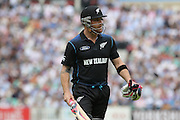 New Zealand Brendon McCullum walks back to the pavilion during the Royal London One Day International match between England and New Zealand at the Oval, London, United Kingdom on 12 June 2015. Photo by Phil Duncan.