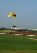 Motor Paragliding Photographed in Israel, Coastal Plains