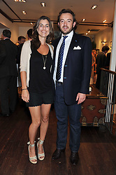 FI DRUMMOND and ALEXANDER MAVROS at a party to celebrate the launch of the new Mauritius Collection of jewellery by Forbes Mavros held at Patrick Mavros, 104-106 Fulham Road, London SW3 on 5th July 2011.