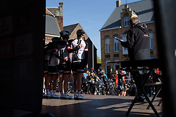Sunweb are presented to the crowds in Boezinge at Women's Gent Wevelgem 2017. A 145 km road race on March 26th 2017, from Boezinge to Wevelgem, Belgium. (Photo by Sean Robinson/Velofocus)
