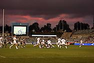 Sunset at Canberra Stadium.Super 14 rugby union match, Brumbies v Cheifs, Canberra, Australia. Saturday 19 February 2011. Photo: Paul Seiser/PHOTOSPORT.../SPORTZPICS