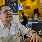 Sergio Chavez, famous Salvadorian syndicate leader. He started working in defense of the maquila's workers in 1998. During the war in El Salvador, he was forced to emigrate to Denmark due to life threats He received for his activities as union official