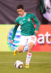 February 24, 2010; San Francisco, CA, USA;  Mexico forward Pablo Berrera (15) during the first half against Bolivia at Candlestick Park. Mexico defeated Bolivia 5-0.
