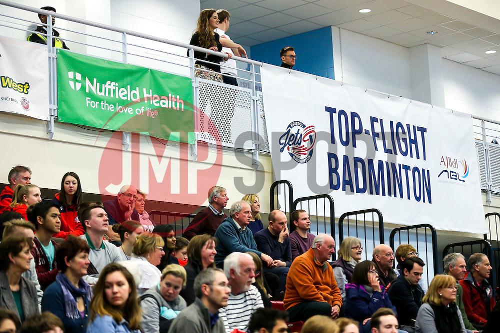 Branding - Rogan Thomson/JMP - 09/01/2017 - BADMINTON - SGS Wise Arena - Bristol, England - Bristol Jets v Birmingham Lions - AJ Bell National Badminton League.