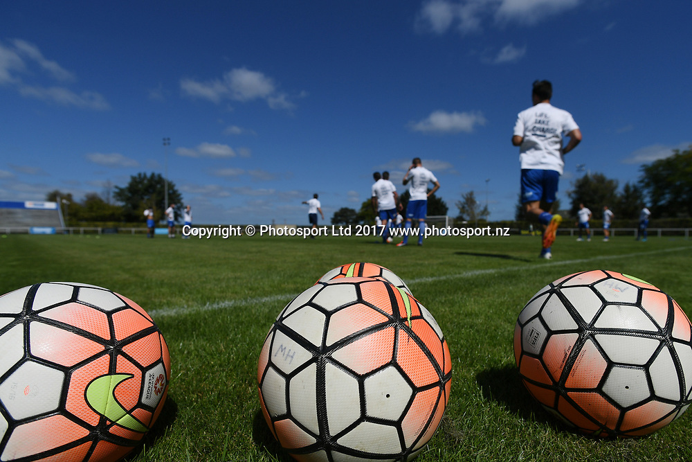 Match balls before the Stirling Sports Premiership match, Hawke's Bay United v Hamilton Wanderes, Park Island, Napier, Sunday, March 19, 2017. Copyright photo: Kerry Marshall / www.photosport.nz