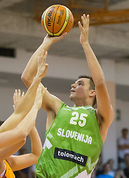 Jure Balazic of Slovenia during friendly match between National teams of Slovenia and Republic of Macedonia for Eurobasket 2013 on July 28, 2013 in Litija, Slovenia. Slovenia defeated Macedonia 63-54. (Photo by Vid Ponikvar / Sportida.com)