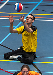 20-04-2019 NED: Dirk Kuyt Foundation Cup, Veenendaal<br /> National Cup sitting volleyball in Veenendaal / vv Apollo Mill vs. Spaarnestad