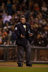 SAN FRANCISCO, CA - MAY 05:  MLB umpire Rob Drake #30 stands on the field during the seventh inning between the San Francisco Giants and the San Diego Padres at AT&T Park on May 5, 2015 in San Francisco, California.  The San Francisco Giants defeated the San Diego Padres 6-0. (Photo by Jason O. Watson/Getty Images) *** Local Caption *** Rob Drake
