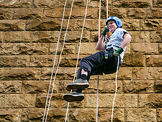 Charity Abseil, Forth Rail Bridge, South Queensferry, 9 June 2019