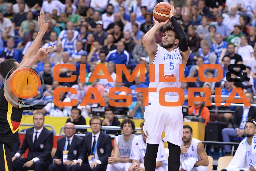 DESCRIZIONE : Berlino Berlin Eurobasket 2015 Group B Italy Germany <br /> GIOCATORE :  Alessandro Gentile<br /> CATEGORIA : Tiro<br /> SQUADRA :Italy<br /> EVENTO : Eurobasket 2015 Group B <br /> GARA : Italy Germany <br /> DATA : 09/09/2015 <br /> SPORT : Pallacanestro <br /> AUTORE : Agenzia Ciamillo-Castoria/I.Mancini <br /> Galleria : Eurobasket 2015 <br /> Fotonotizia : Berlino Berlin Eurobasket 2015 Group B Italy Germany