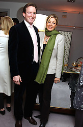 Left & centre, RUPERT ADAMS and his wife NADJA SWAROVSKI at a party hosted American House and Garden magazine with Tomasz Starzewski and Nina Campbell to celebrate the British Issue of the magazine, held at 14 Stanhope Mews West, London SW7 on 13th March 2005.<br />