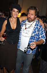 TRACEY EMIN and JULIAN SCHNABEL at a party to celebrate the publication of Strangeland by artist Tracey Emin at 33 Portland Place, London W1 ON 21ST OCTOBER 2005.<br /><br />NON EXCLUSIVE - WORLD RIGHTS