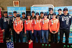 at press conference of Slovenian Nordic Ski Team before Nordic World Championships 2019 in Seefeld, on February 19, 2019 in Maximarket, Ljubljana, Slovenia. Photo by Matic Klansek Velej / Sportida