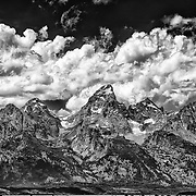 The Teton Mountain Range in Summer; Grand Teton National Park, WY.