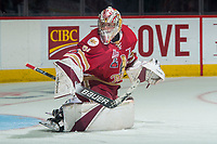 REGINA, SK - MAY 27: Evan Fitzpatrick #31 of Acadie-Bathurst Titan warms up in net against the Regina Pats at the Brandt Centre on May 27, 2018 in Regina, Canada. (Photo by Marissa Baecker/CHL Images)