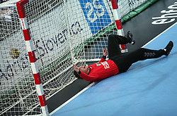 Goalkeeper of Koper Blaz Voncina at handball match RK Cimos Koper vs Chehovskie Medvedi (RUS) in E group of EHF Champions league Men 2008/2009, on October 4, 2008 in Arena Bonifika, Koper, Slovenia. Chehovskie Medvedi won 35:28. (Photo by Vid Ponikvar / Sportal Images)