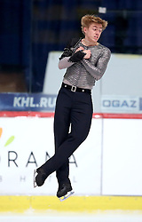 04.12.2015, Dom Sportova, Zagreb, CRO, ISU, Golden Spin of Zagreb, freies Programm, Herren, im Bild David Kranjec, Slovenia. // during the 48th Golden Spin of Zagreb 2015 men Free Program of ISU at the Dom Sportova in Zagreb, Croatia on 2015/12/04. EXPA Pictures © 2015, PhotoCredit: EXPA/ Pixsell/ Igor Kralj<br /> <br /> *****ATTENTION - for AUT, SLO, SUI, SWE, ITA, FRA only*****