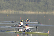 Hazewinkel, BELGIUM, W1X, Katherine GRAINGER leads in the  A Final, of the Women's  Single Sculls, at the GB Rowing Senior Trials, on Mon 16.04.2007  [Credit, Peter Spurrier/Intersport-images]   [Mandatory Credit, Peter Spurier/ Intersport Images]. , Rowing Course, Bloso, Hazewinkel. BELGUIM