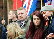 Far right activists protesting outside Regent's Park Mosque in Central London, Great Britain <br /> 3rd April 2015 <br /> <br /> <br /> Britain First <br /> leader - Paul Golding <br /> <br /> Police and Muslims who have been praying at the Mosque. <br /> <br /> Photograph by Elliott Franks <br /> Image licensed to Elliott Franks Photography Services