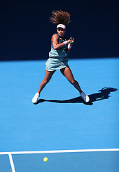 MELBOUREN, Jan. 19, 2019  Osaka Naomi of Japan competes.    during the women's singles 3rd round match between Osaka Naomi of Japan and Hsieh Su-Wei of Chinese Taipei at the Australian Open in Melbourne, Australia, Jan. 19, 2019. (Credit Image: © Bai Xuefei/Xinhua via ZUMA Wire)